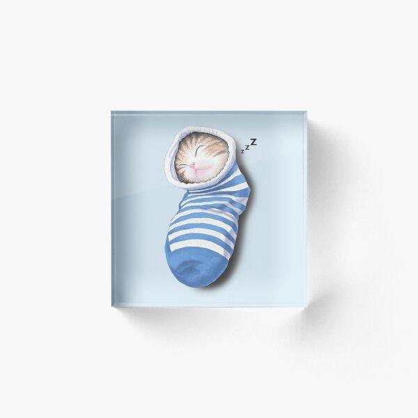 Cat in the sock Acrylic Block