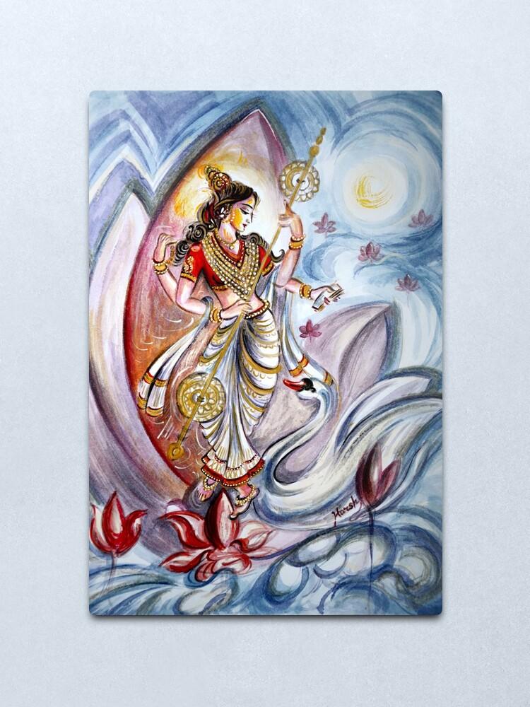 Alternate view of Saraswati Metal Print
