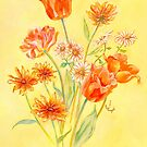 TULIPS AND DAISIES by Judy Mastrangelo