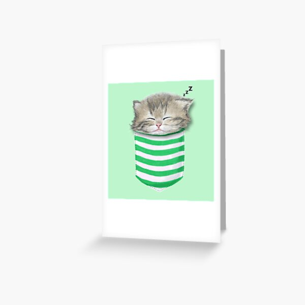 Cat in the pocket Greeting Card