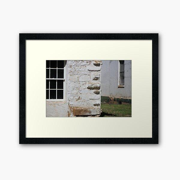 Corner of Hospital at Fort Stanton New Mexico Framed Art Print