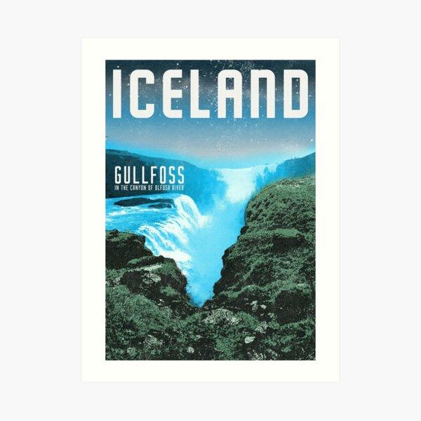 Iceland's Gullfoss waterfall Art Print