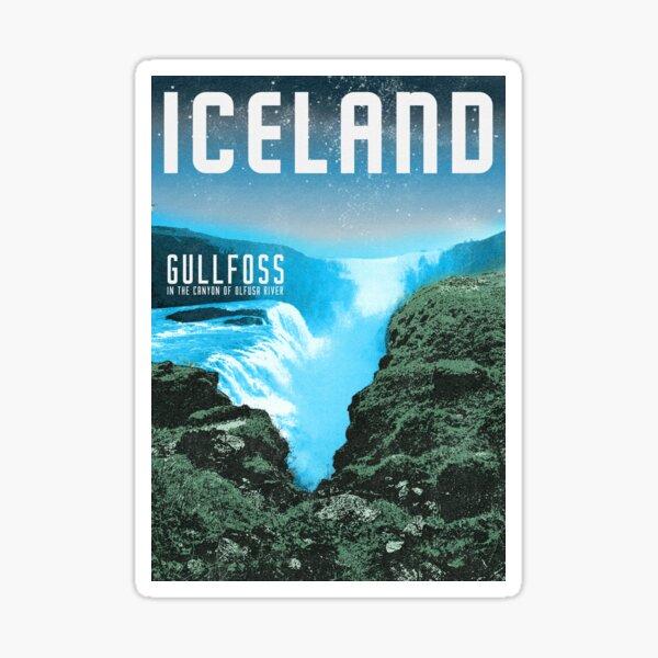 Iceland's Gullfoss waterfall Sticker