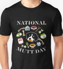 National Mutt Day Slim Fit T-Shirt