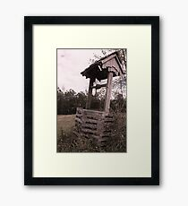 old timey well Framed Print