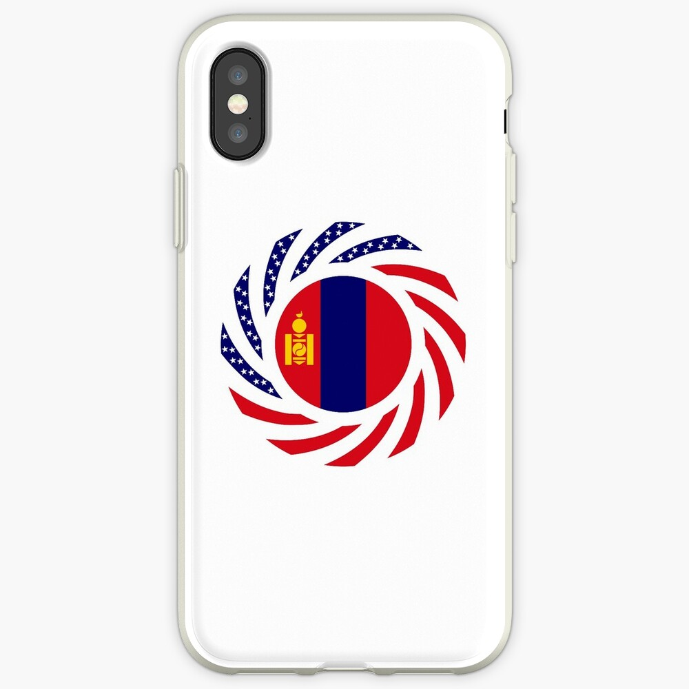 Mongolian American Multinational Patriot Flag Series iPhone Case & Cover