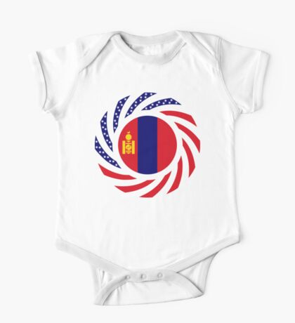 Mongolian American Multinational Patriot Flag Series Kids Clothes