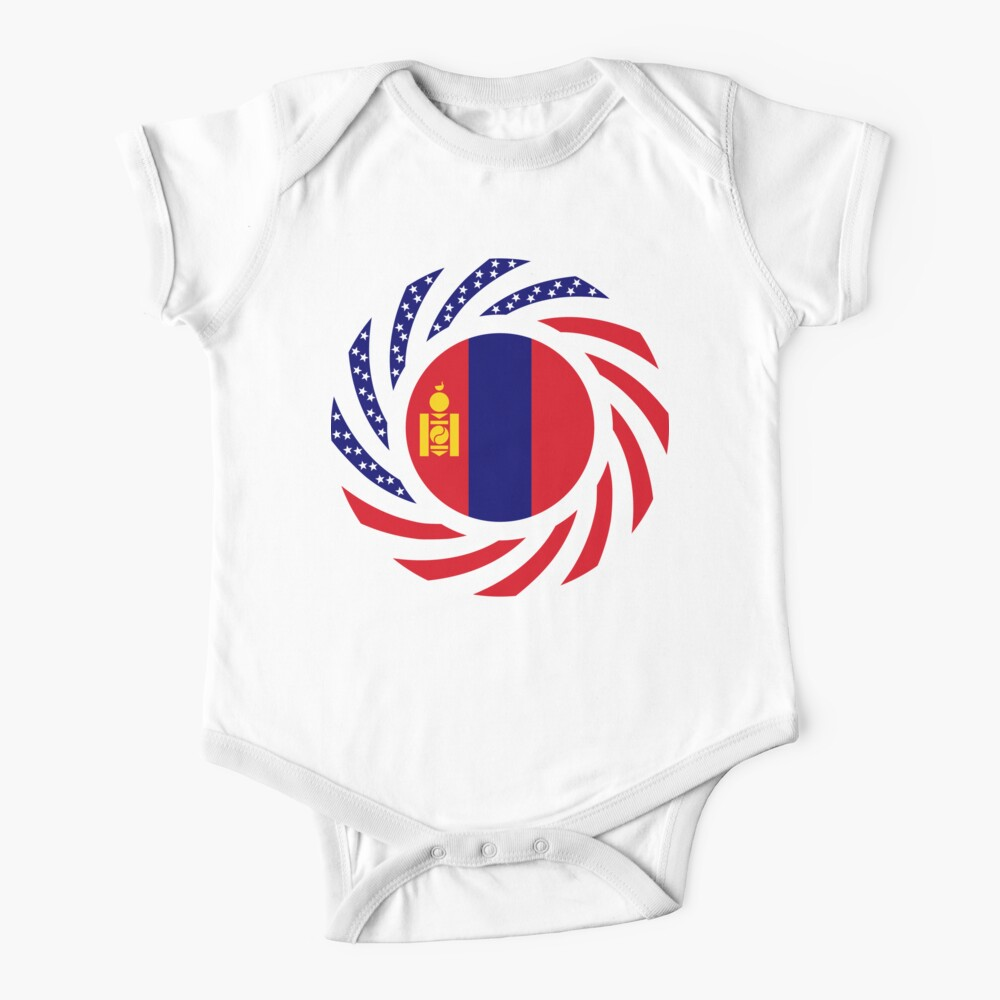 Mongolian American Multinational Patriot Flag Series Baby One-Piece