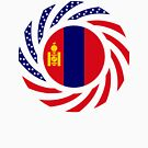 Mongolian American Multinational Patriot Flag Series by Carbon-Fibre Media
