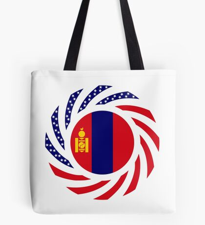 Mongolian American Multinational Patriot Flag Series Tote Bag