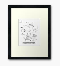 The Alien And The Time Travel Party Framed Print