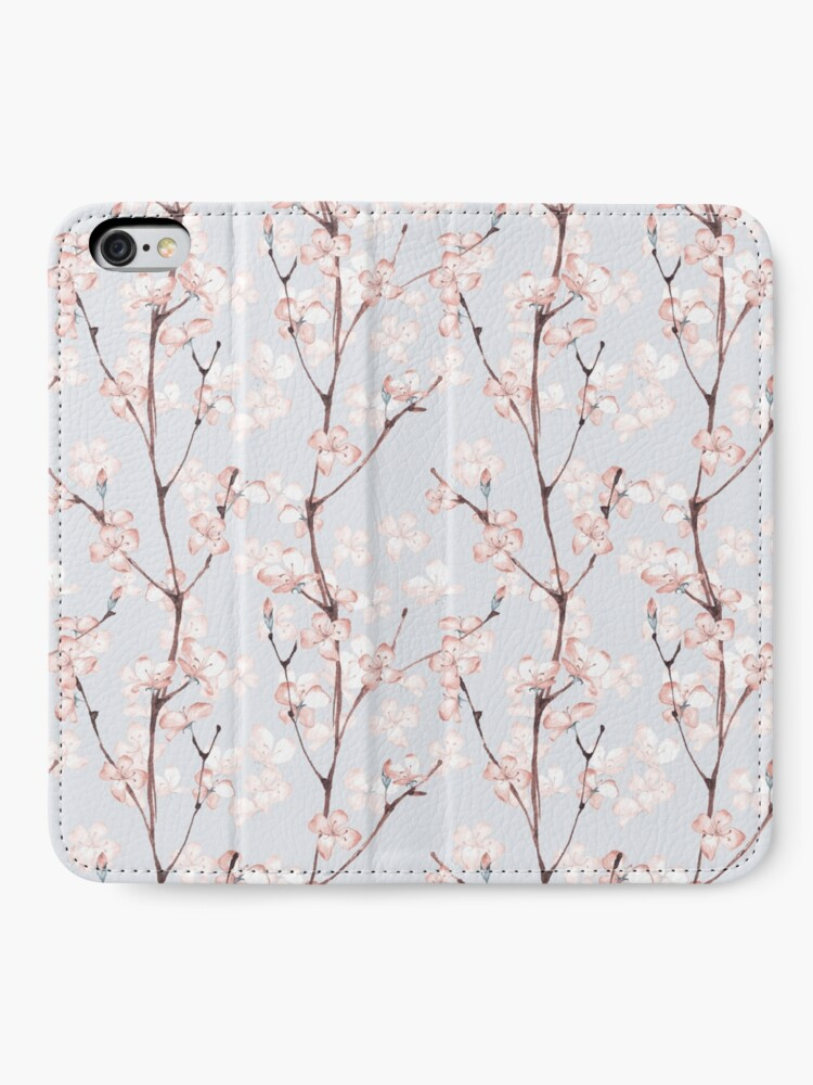 Alternate view of Blossom. Watercolor seamless floral pattern iPhone Wallet