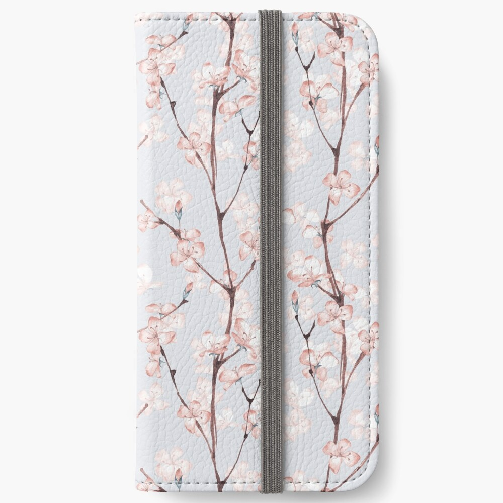 Blossom. Watercolor seamless floral pattern iPhone Wallet