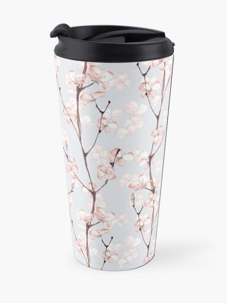 Alternate view of Blossom. Watercolor seamless floral pattern Travel Mug