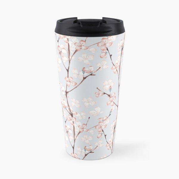 Blossom. Watercolor seamless floral pattern Travel Mug