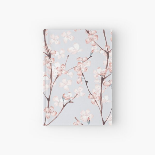 Blossom. Watercolor seamless floral pattern Hardcover Journal