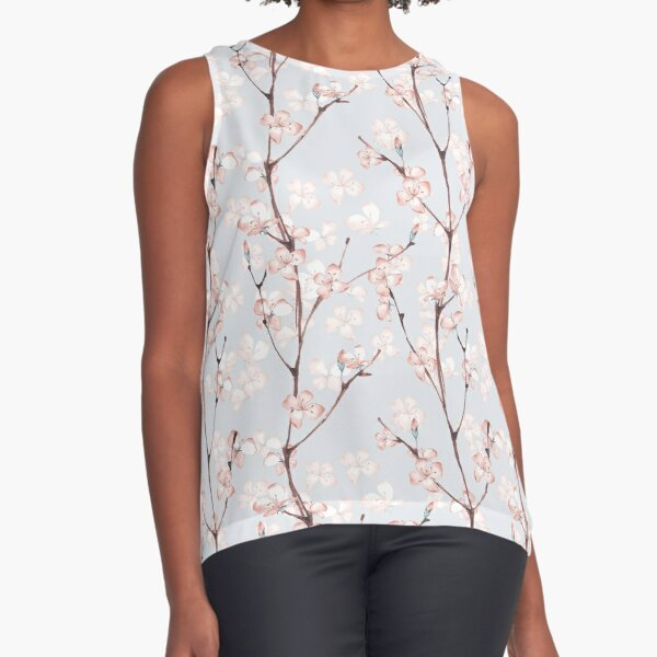 Blossom. Watercolor seamless floral pattern Sleeveless Top
