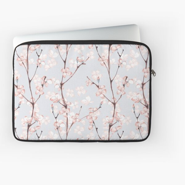 Blossom. Watercolor seamless floral pattern Laptop Sleeve