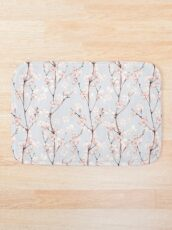 Blossom. Watercolor seamless floral pattern Bath Mat