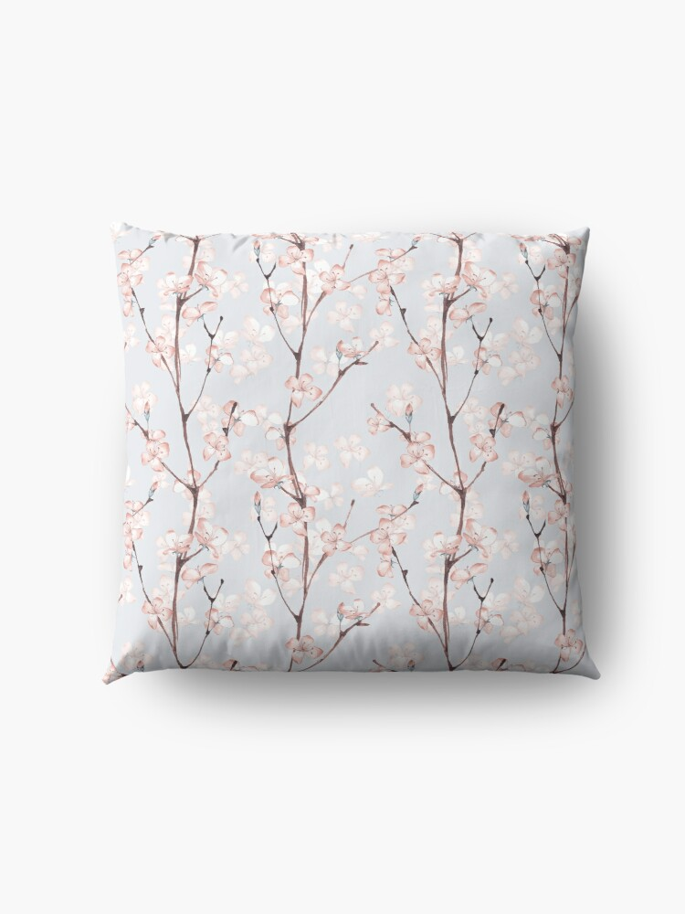 Alternate view of Blossom. Watercolor seamless floral pattern Floor Pillow