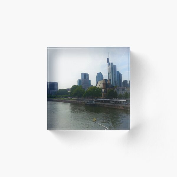 Frankfurt Am Main Acrylic Block