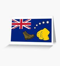 Tarjeta de felicitación Nueva bandera de Australia