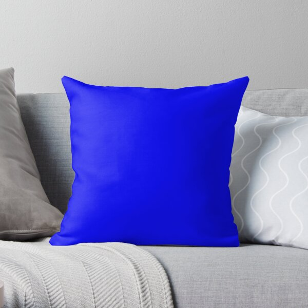 PLAIN SOLID BLUE -100 BLUE SHADES ON OZCUSHIONS ON ALL PRODUCTS  Throw Pillow