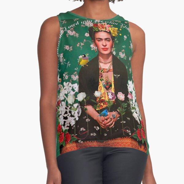 Flügel zum Fliegen Frida Kahlo Ärmelloses Top