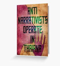 Anti-Narrativists Operate in Thaiana Greeting Card