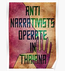 Anti-Narrativists Operate in Thaiana Poster