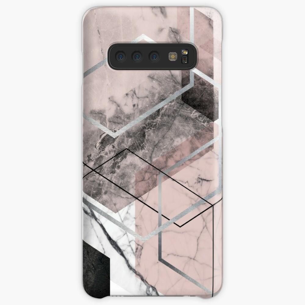 Blush and Grey Geometric Case & Skin for Samsung Galaxy