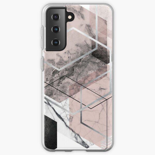 Blush and Grey Geometric Samsung Galaxy Soft Case