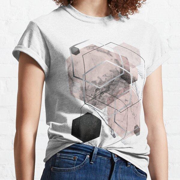 Blush and Grey Geometric Classic T-Shirt