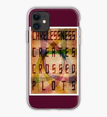 Careless Creates Crossed Plots iPhone Case