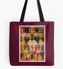 Careless Creates Crossed Plots Tote Bag