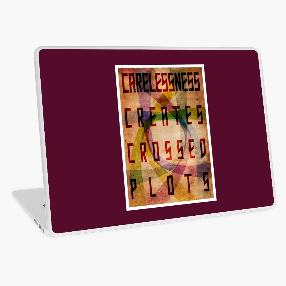 Careless Creates Crossed Plots Laptop Skin