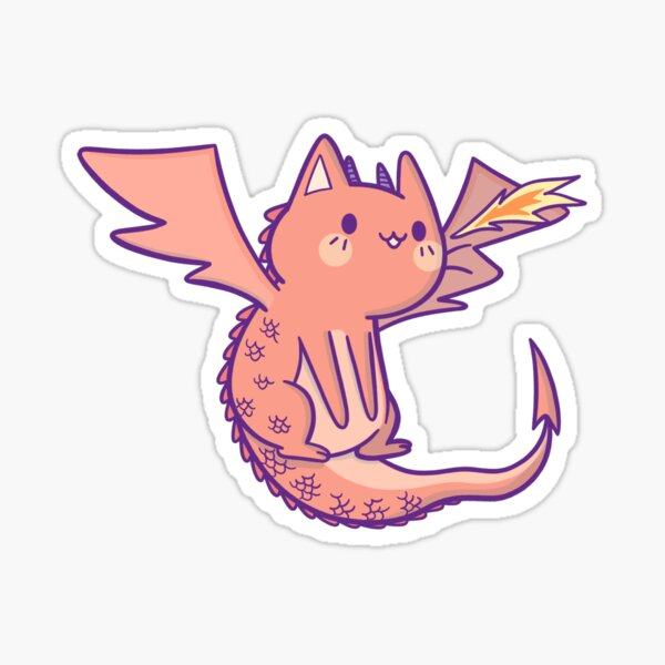 Legendary Cat Dragon Sticker