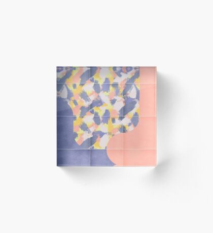 Messy Painted Tiles 03 #redbubble #midmod Acrylic Block
