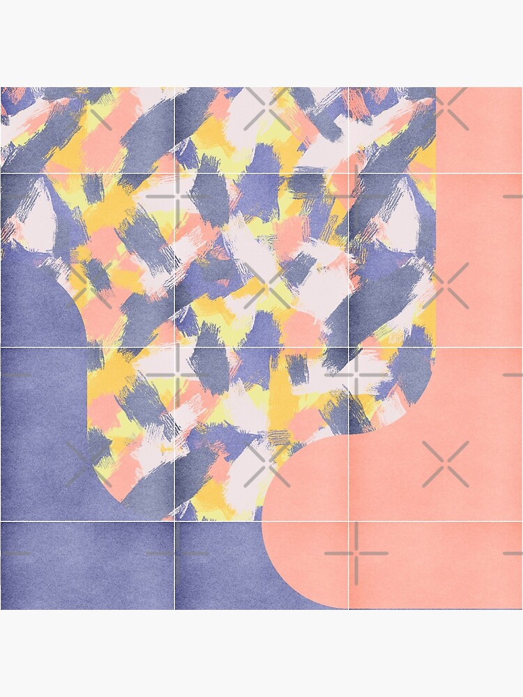 Messy Painted Tiles 03 #redbubble #midmod by designdn