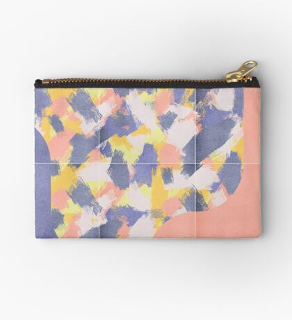 Messy Painted Tiles 03 #redbubble #midmod Zipper Pouch