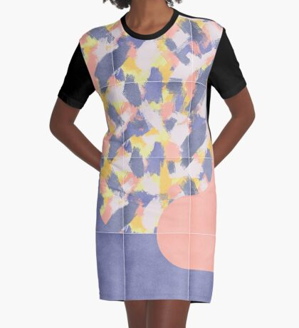 Messy Painted Tiles 03 #redbubble #midmod Graphic T-Shirt Dress