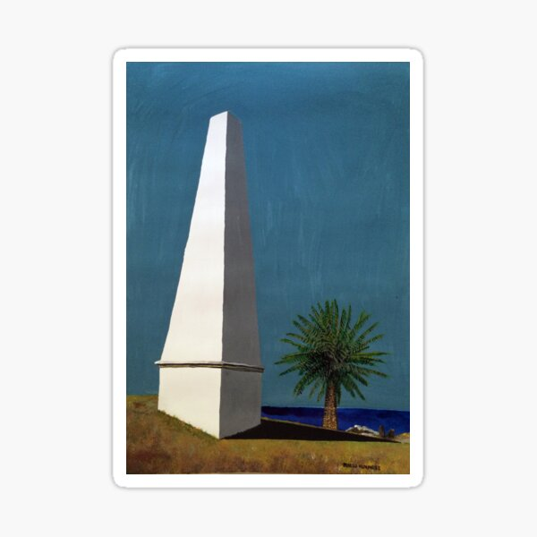 Newcastle Obelisk by Margo Humphries Sticker