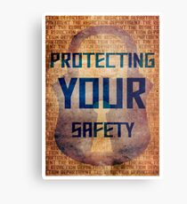 Protecting Your Safety Metal Print