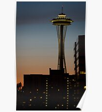 Space Needle at Dusk Poster