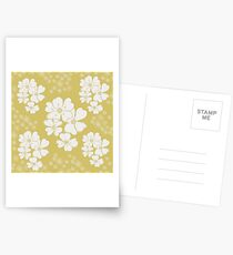 White thoughts on gold Postcards