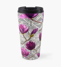Watercolor Magnolia Tribal Travel Mug