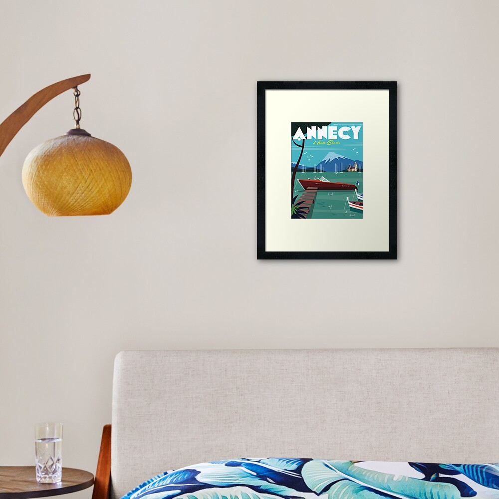 Annecy Poster Framed Art Print