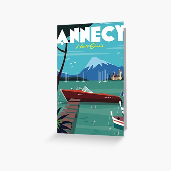 Annecy Poster Greeting Card