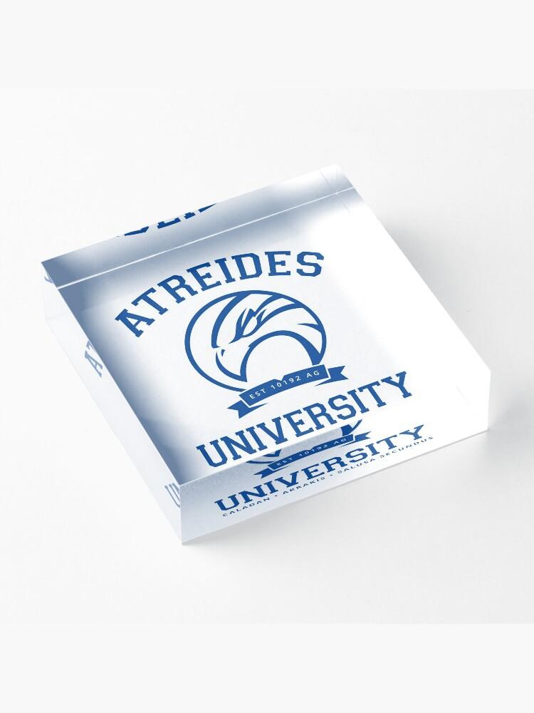Alternate view of Atreides University   Blue Acrylic Block
