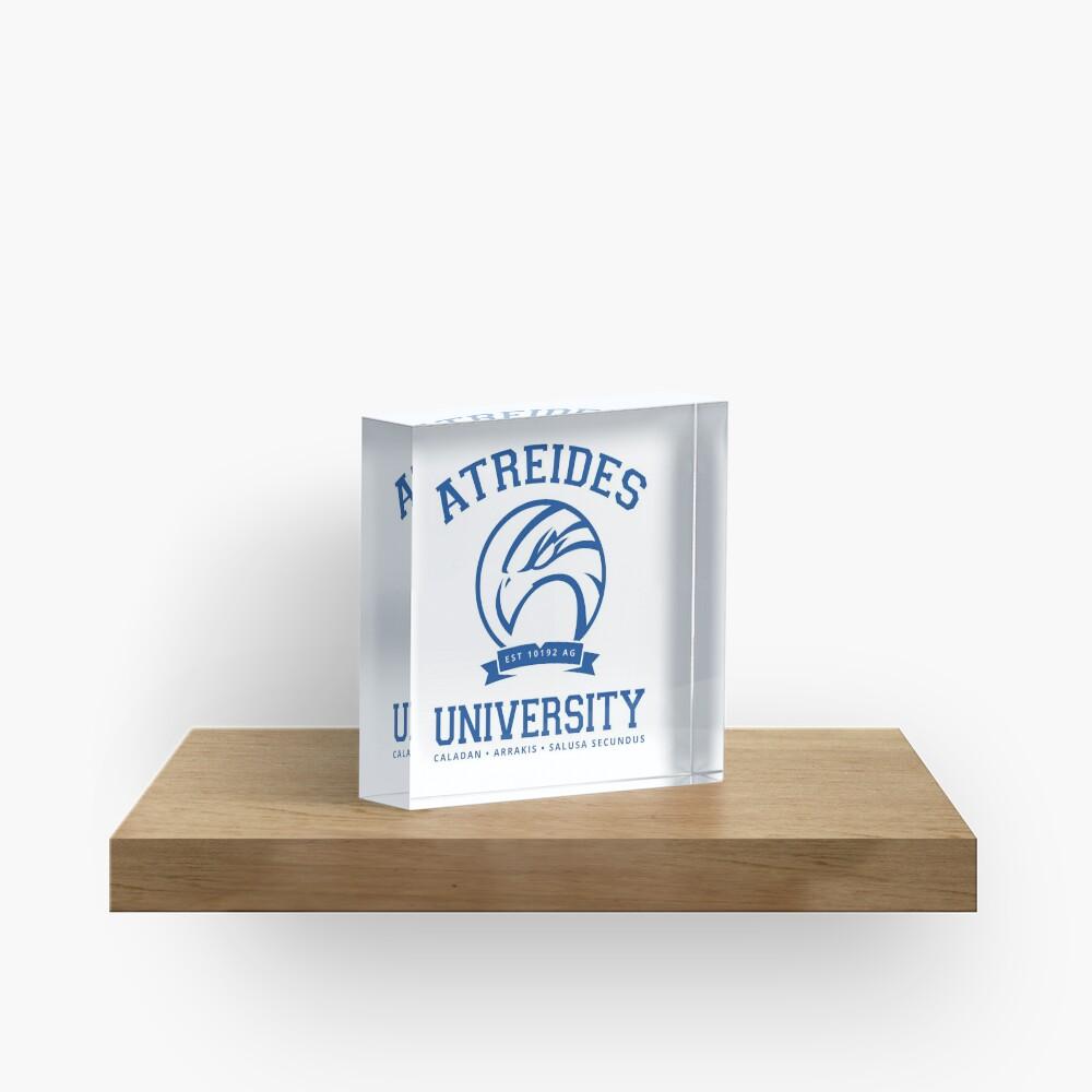 Atreides University   Blue Acrylic Block